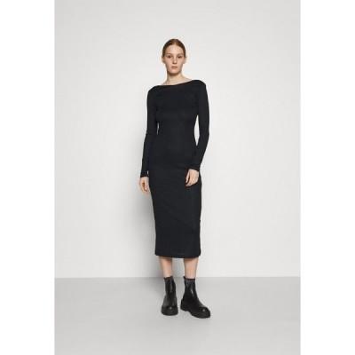 エヌ エー ケイ ディ ワンピース レディース トップス DEEP BACK MIDI DRESS - Shift dress - black