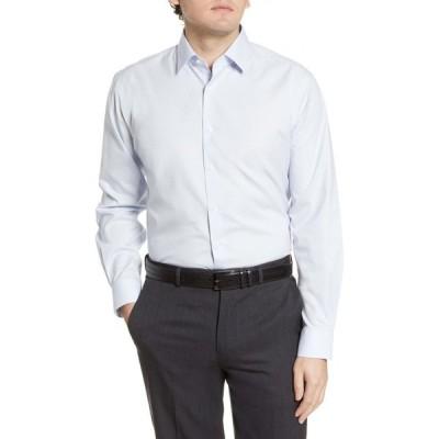 ノードストローム NORDSTROM MEN'S SHOP メンズ シャツ トップス Traditional Fit Non-Iron Dot Dress Shirt White Blue Dot Squares