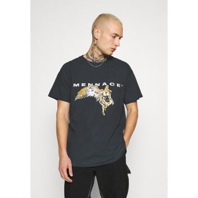 メンナス Tシャツ メンズ トップス FALLEN REGULAR - Print T-shirt - black