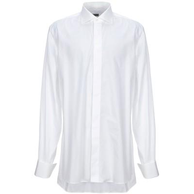 TIZIANO REALI シャツ ホワイト 44 コットン 100% シャツ