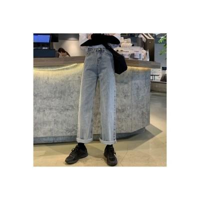 【送料無料】女性のジーンズ 荷重 秋 韓国風 ファッション ハイウエスト 着やせ ス   364331_A63604-4691919