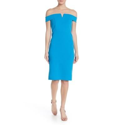 ラブバイデザイン レディース ワンピース トップス Off-the-Shoulder Wired Notch Midi Dress BLUE ASTER