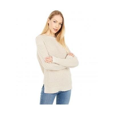 Michael Stars ミッシェルスターズ レディース 女性用 ファッション セーター Maggie Crew Neck Tonal Stripe Cotton Sweater - Adobe