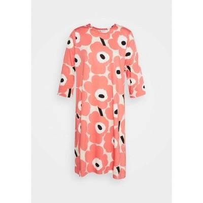 マリメッコ ワンピース レディース トップス CLASSICS KAUNEUS UNIKKO DRESS - Jersey dress - beige/rose/black