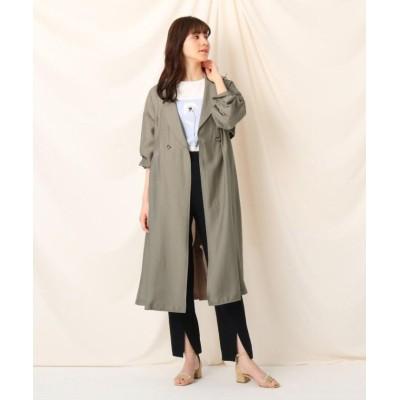 【クチュールブローチ】 シアーロングコート レディース タバコブラウン 40(L) Couture Brooch