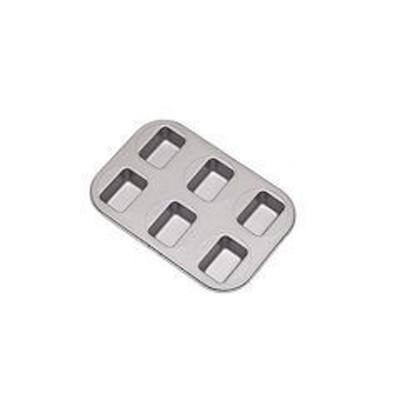 フッ素樹脂 ベイクウェアー No.57305 ミニパウンドケーキ型6P