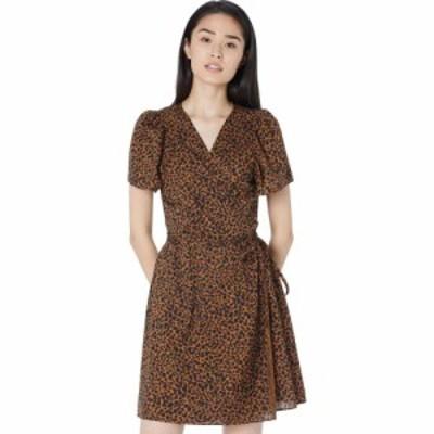 メイドウェル Madewell レディース ワンピース ラップドレス ワンピース・ドレス Short Sleeve Wrap Dress in Leopard Brushed Leopard W