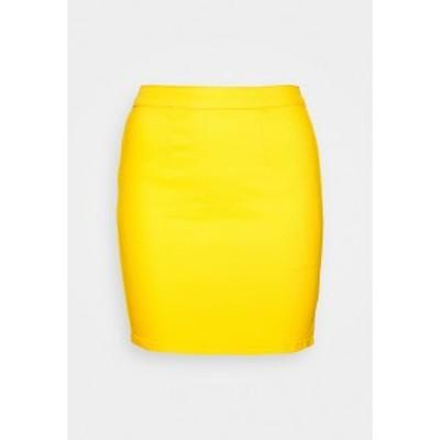 ミスガイデッド レディース スカート ボトムス ZIP UP SKIRT - Denim skirt - yellow yellow
