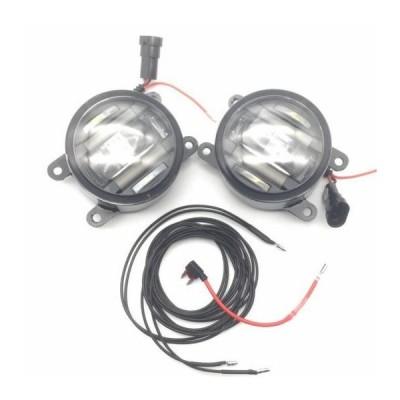 AL 適用: アキュラ/ACURA ILX RDX TL TSX 2in1 18W LED フォグライト ホワイト カットラインレンズ DRL ホワイト LED フォグ AL-KK-8322