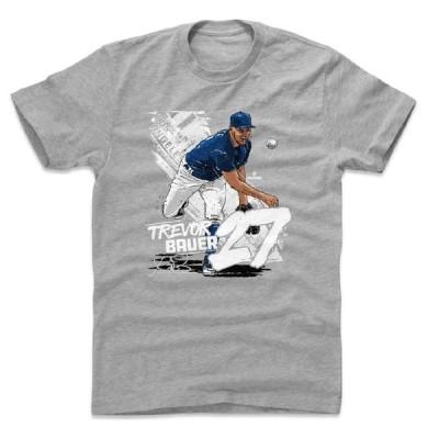 トレバー・バウアー Tシャツ MLB ドジャース State T-Shirt 500Level ヘザーグレー