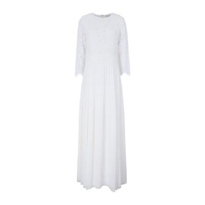 IVY & OAK ロングワンピース&ドレス ホワイト 36 コットン 75% / ナイロン 25% ロングワンピース&ドレス