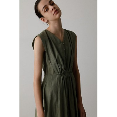 <RIM.ARK(Women)/リムアーク> V tuck layered dress(460DSL33-0270) モスグリーン【三越伊勢丹/公式】