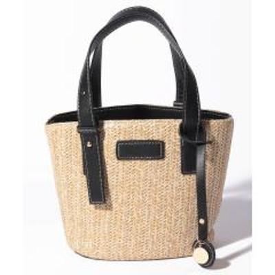 STYLEBLOCK(スタイルブロック)草編み2WAYカゴバッグショルダーストラップ付トートバッグ