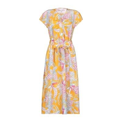 LE SARTE PETTEGOLE 7分丈ワンピース・ドレス オレンジ 42 コットン 100% 7分丈ワンピース・ドレス