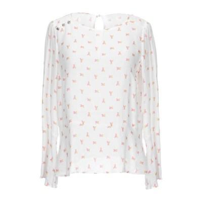 PATRIZIA PEPE ブラウス  レディースファッション  トップス  シャツ、ブラウス  長袖 ホワイト