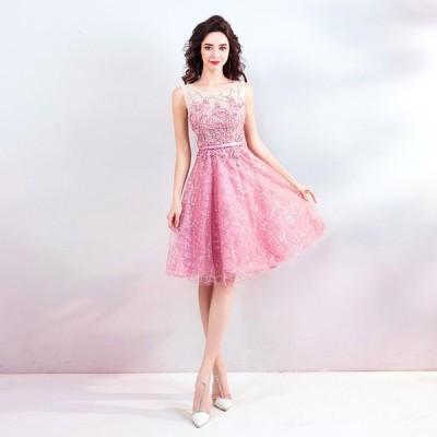 カラードレス 結婚式 花嫁 パーティードレス ミニ ワンピース お呼ばれ 二次会 ドレス 演奏会 発表会 大きいサイズ 安い ピンク 演出 送料無料