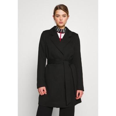 ヴェロモーダ コート レディース アウター VMVERODONA TRENCHCOAT - Short coat - black