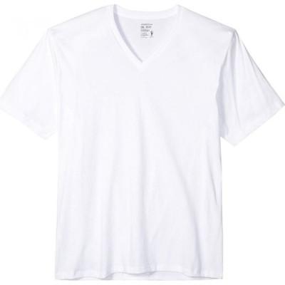 ジョッキー Jockey メンズ Tシャツ Vネック トップス Classic Staynew Bonus Pack V-Neck T-Shirt (3-Pack + 1 Free) White