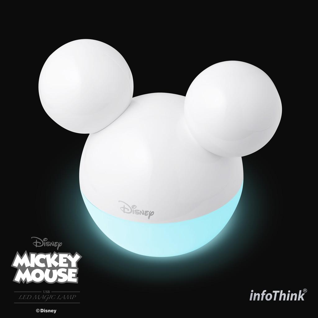 InfoThink 米奇系列藍牙APP魔法情境燈/夜燈-剔透白