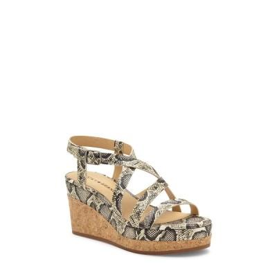 ラッキーブランド サンダル シューズ レディース Batikah Strappy Wedge Sandal Snake Print Leather