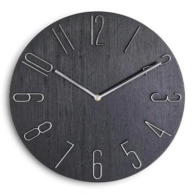 掛け時計 部屋飾り 壁掛け時計 北欧 ジェネリック家具 おしゃれ 壁飾り  レトロ  静音 人気  モダン フレームなし インテリア 木目調盤  部屋飾り 贈り物 30cm