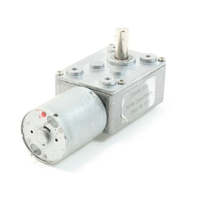 uxcell ギアモーター 24V 3500 / 20RPM 長方形ギアボックス 2ピン端子電気ギアモーター