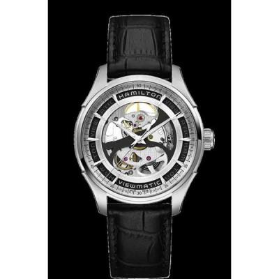 ハミルトン 腕時計 Hamilton Jazzmaster Skeleton Auto Silver Dial Leather Band メンズ Watch H42555751