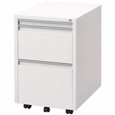(新品)ナカバヤシ スライド テーブルキャビネット デスクサイド収納 ホワイト RWX-F520W
