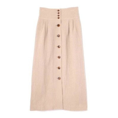 ROSE BUD/ローズ バッド フロントボタンスカート グレー -