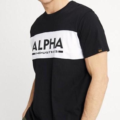 アルファインダストリーズ メンズ ファッション Print T-shirt - black