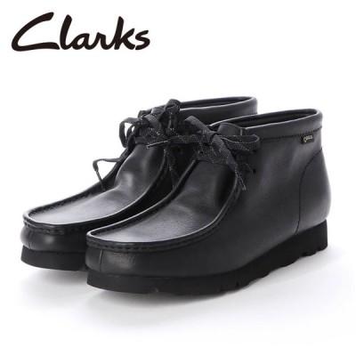 Clarks クラークス WallabeeBT GTX ワラビーブーツ(ブラックレザー) 26146260 【靴/アウトドア/メンズ/ゴアテックス】
