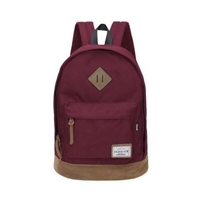 Classical School Bag - OSZZAK Unisex Basic Daily Waterproof Rucksack Backpack for Student Children Travel Teenager Laptop Casual (Wine) 並行輸入