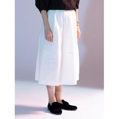 【スタイリング】 コクーン リネン スカート レディース ホワイト 0 styling/