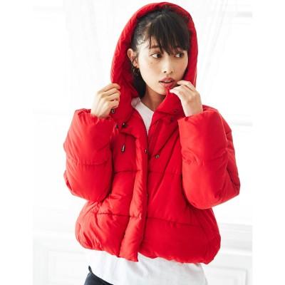 ジーラ GeeRA 【WEB限定】フェイクダウンショートコート (レッド)