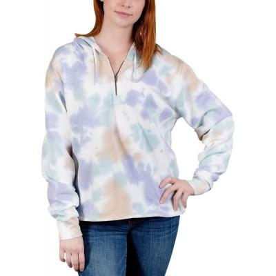 リベリアス ワン Rebellious One レディース パーカー 大きいサイズ トップス Trendy Plus Size Tie-Dyed Hoodie Orchid