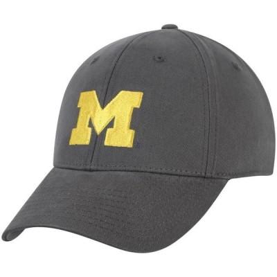ユニセックス スポーツリーグ アメリカ大学スポーツ Michigan Wolverines Team Basic Adjustable Hat - Charcoal - OSFA 帽子