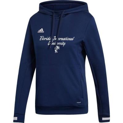 アディダス adidas レディース パーカー トップス FIU Golden Panthers Blue Hoodie