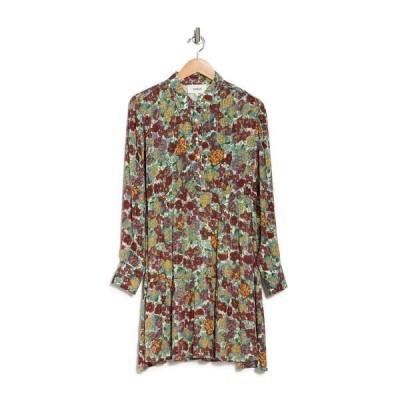 バッシュ レディース ワンピース トップス Pold Floral Pleated Dress YELLOW