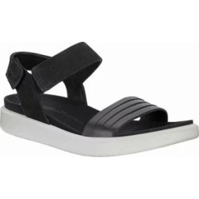 ECCO レディースサンダル ECCO Flowt Strappy Sandal Black/Black Leather