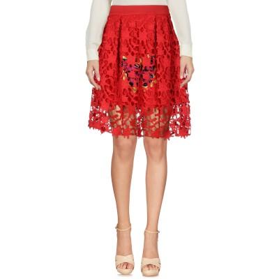 MNML COUTURE ひざ丈スカート レッド XS ポリエステル 100% ひざ丈スカート