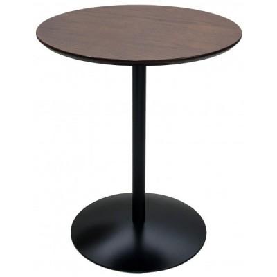 Santos(サントス) ラウンド型シンプルサイドテーブル ブラウン×ブラック ST-019 1個