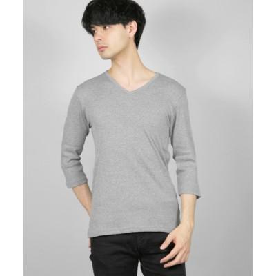 tシャツ Tシャツ GW/テレコVネック七分袖カットソー