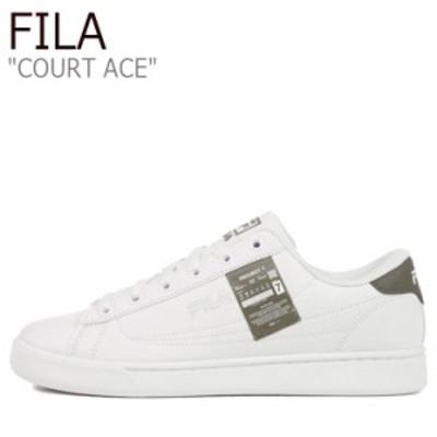 フィラ スニーカー FILA Project 7 COURT ACE プロジェクト 7 コート エース WHITE ホワイト GREEN グリーン 1XM01182-324 シューズ
