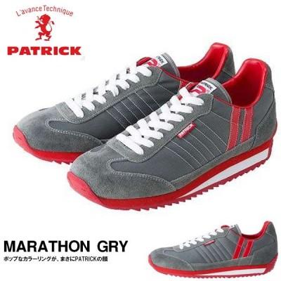 スニーカー パトリック PATRICK メンズ レディース MARATHON GRY グレー シューズ 靴 日本製 送料無料