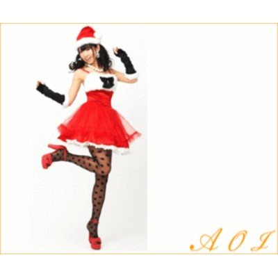 【レディ】【XM(C)-14】ベロアリボンサンタ 【でんぱ組】【クリスマス】【サンタ】【サンタクロース】【パーティ】でんぱ組がイメージキ