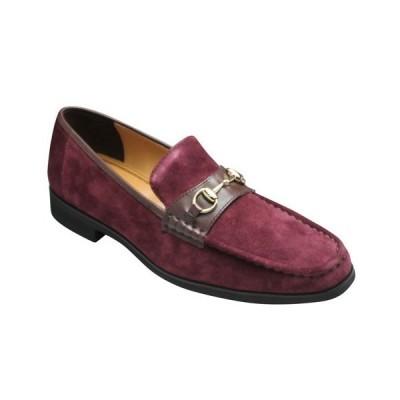 MODELLO VITA(モデロヴィータ)/ビットモカシン/VT7671(ワインベロア)/3E/牛革スエード/メンズ 靴