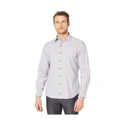 David Donahue メンズ 男性用 ファッション ボタンシャツ Gingham Sport Shirt - Sky/Chocolate