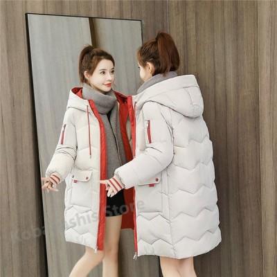 中綿ジャケット レディース 膝丈 可愛い 冬 防寒 防風