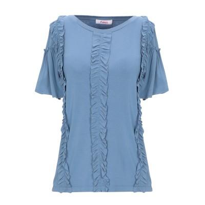 ブルーガール ブルマリン BLUGIRL BLUMARINE T シャツ アジュールブルー 42 レーヨン 95% / ポリウレタン 5% T シャツ