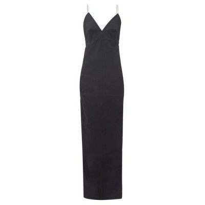 リック オウエンス Rick Owens レディース パーティードレス ワンピース・ドレス Maillot shoelace-strap cotton-blend dress Black